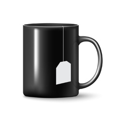 Black mug cup isolated vector image