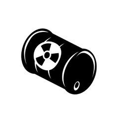 black radioactive wastle ib barrel icon vector image