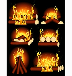 Bonfire collection vector