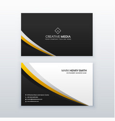 Business card template design in simple style vector