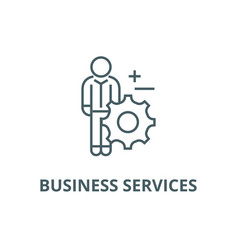 business services line icon business vector image