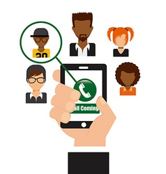 Call contact vector