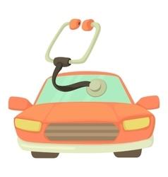 Car treatment icon cartoon style vector