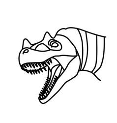 ceratosaurus icon doodle hand drawn or black vector image