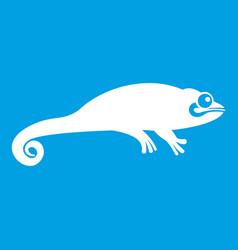 Chameleon icon white vector