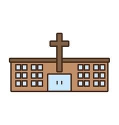 Church building celebration wedding icon vector