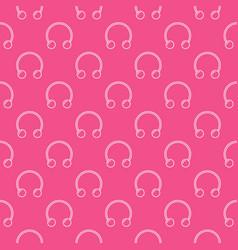 circular barbells horseshoe pink seamless vector image