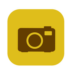 Color square with analog camera icon vector