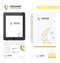 crescent and stars business logo tab app diary vector image