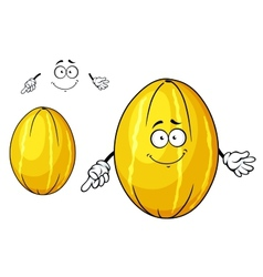 Cute yellow melon fruit cartoon character vector