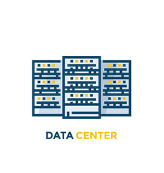 data center servers vector image