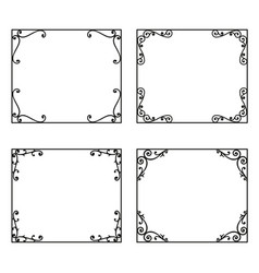 Decorative frames and borders backgrounds vintage vector