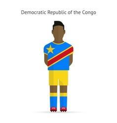 Democratic republic congo football player vector