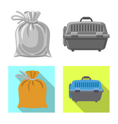 Design of suitcase and baggage sign set of vector