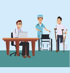 doctor office cartoon vector image