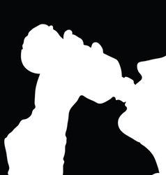 drinking from the bottle vector image
