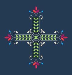 Elegance floral design element for pattern vector