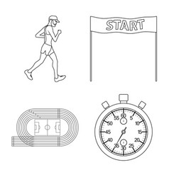 exercise and sprinter sign vector image