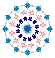 Floral geometric pattern vector