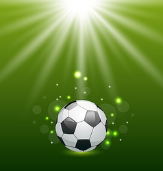 Football background with ball and light effect vector