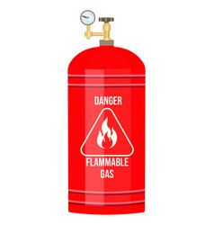 Gas cylinder tank propane bottle icon vector