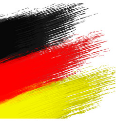 Grunge background in colors of german flag vector