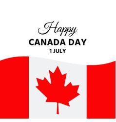 happy canada day banner vector image