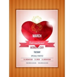 Heart on a light International Happy Women s Day vector