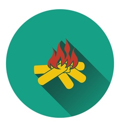 Icon of camping fire vector image