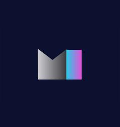 Initial alphabet letter mi m i logo company icon vector