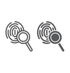 investigation line and glyph icon crime and vector image