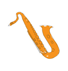 isolated saxophone icon musical instrument vector image