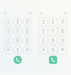 keypad for phone vector image