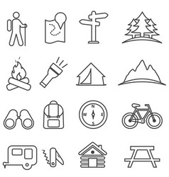 leisure camping recreation and outdoor vector image