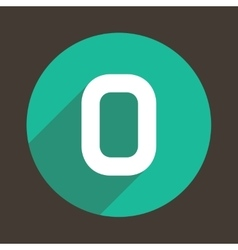 Letter O Logo Flat Icon Style vector image