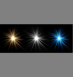 light effects light stars glow bursts vector image
