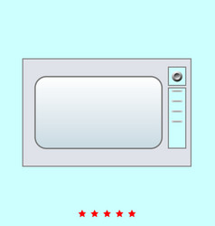 microwave oven set it is color icon vector image