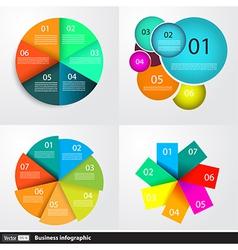 Modern business infographics set vector image