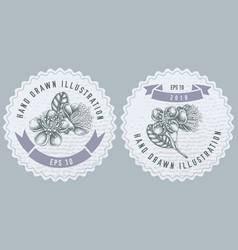 Monochrome labels design vector