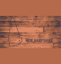 new hampshire map brand vector image