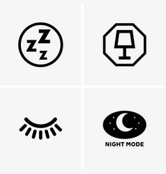 Night mode vector