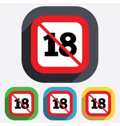 No 18 years old sign Adults content vector