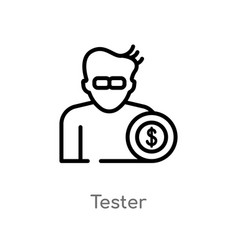 Outline tester icon isolated black simple line vector