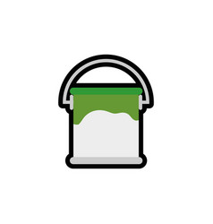 Paint bucket icon vector