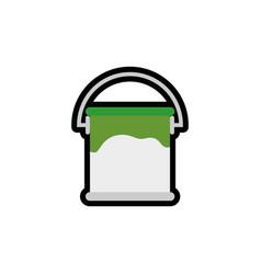 Paint bucket icon vector