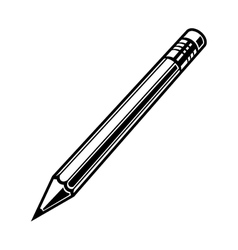 Pensil set monochrome black vector image