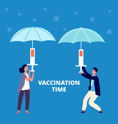 people treatment vaccination virus prevention vector image