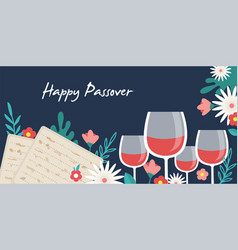 pesah celebration concept jewish passover vector image