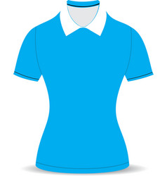 polo shirt outline on white background04 01 vector image