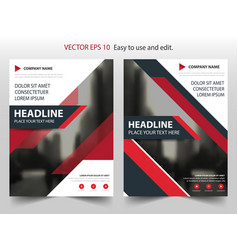 Red black annual report brochure flyer design vector
